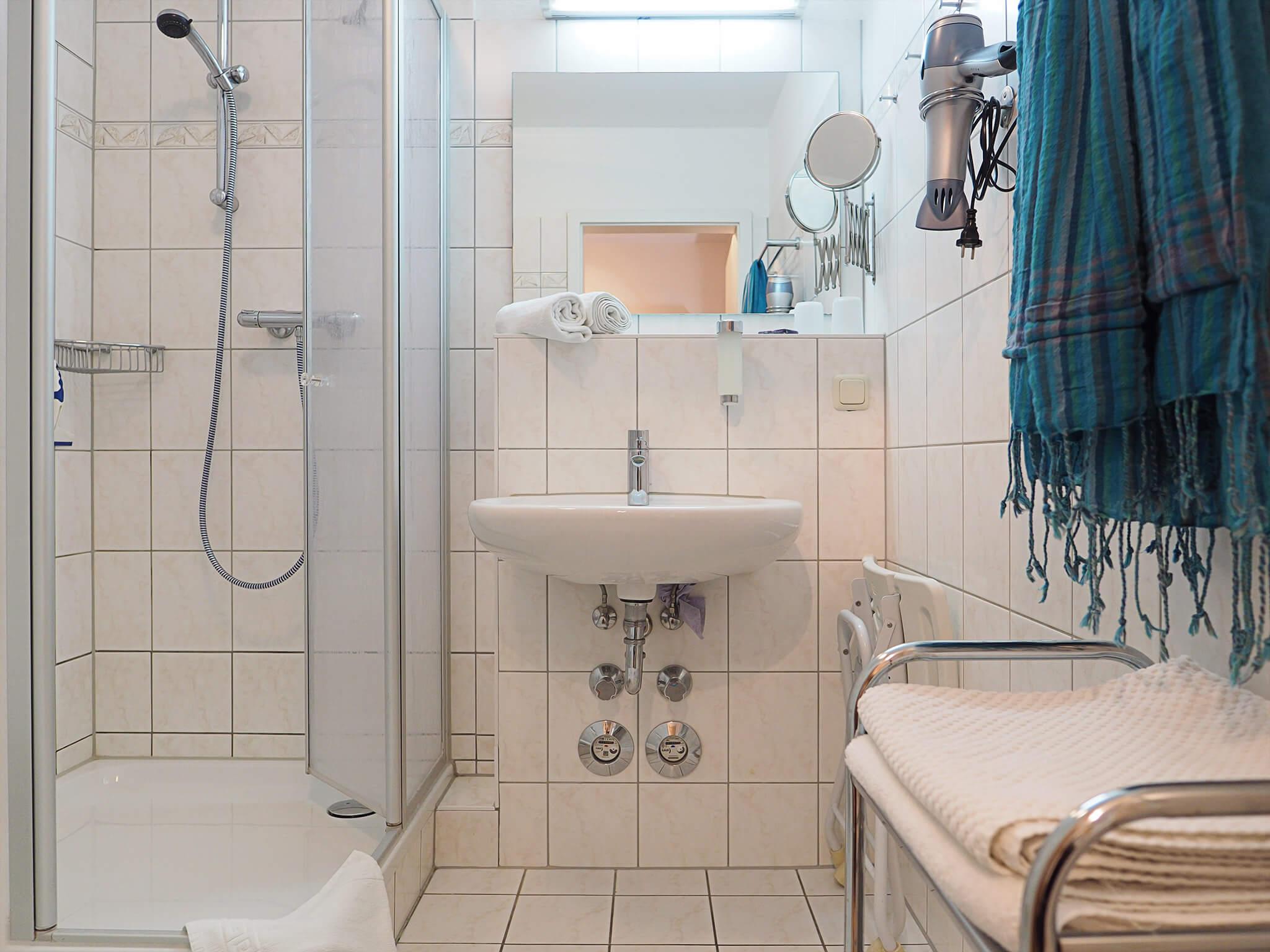 Duschbad der Ferienwohnung